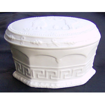 Antigua Porcelana Biscuit Alemana Sellada Y Numerada.