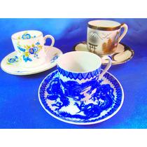 El Arcon 3 Tazas De Cafe De Coleccion Porcelana 20130