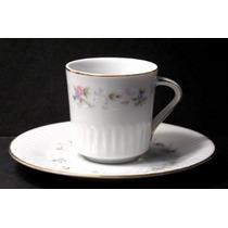 Pocillo De Cafe Con Plato Porcelana Tsuji Shabby Impecable.