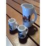 Antigua Miniatura De Porcelana Juego De Cerveza - Único!!