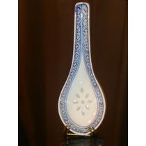 Cuchara De Porcelana China Oriental Traslucida