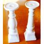 Candelabros De Porcelana En Forma De Columna Griega!!