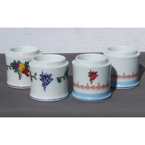 Historical*- 4 Potes Farmacia- Biol -porcelana Ginori-envío