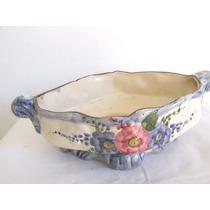 Adorno Decorativo Fuente De Porcelana Motivos Florales. M