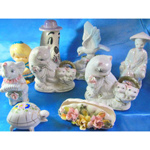 El Arcon Lote 10 Adornos De Porcelana Gatos Figuras 13106