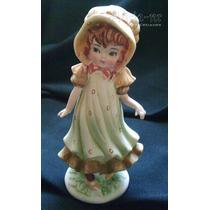 Niña Con Cofia - Figura De Porcelana Biscuit - Japón