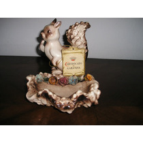 766- Jardinera Con Figura Porcelana Capodimonte Certificado