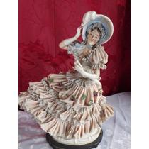 Bellisima Figura Dama Porcelana Sellada