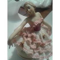 Bailarina De Porcelana Dresden Alemana 16 Ctms. De Alto