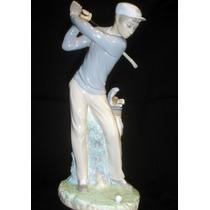 Notable Figura Lladro Motivo Golfista(1091)f