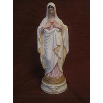 Imagen De Porcelana Con El Sagrado Corazón De María