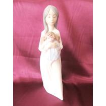 El Arcon Figura Porcelana Nao By Lladro Niña Con Su Muñeca