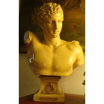 Escultura. Faiances Xix. Hermes Y El Infante. Gran Tamaño.