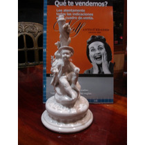 Velador Con Figura Chico En Arból De Ceramica (0006)