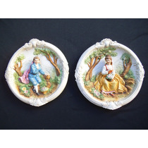 Antiguos Cuadros Placas De Porcelana Envío Fa