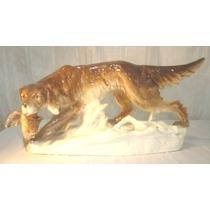 Antigua Figura Royal Dux Perro De Caza Numerada Chescolovaca