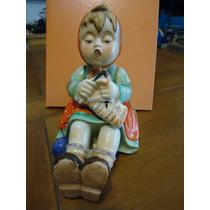 Antigua Figura De Porcelana Japonesa Multicolor