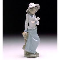 El Arcon Figura Porcelana Nao By Lladro Palomita Sobre Mano