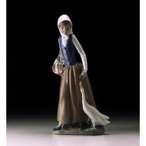 El Arcon Figura Porcelana Nao By Lladro Pastorcita Con Patos