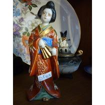 Fantastica Figura En Porcelana Oriental Satsuma !!!mirala!!!