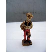 Excelente Figura En Ceramica Esmaltada Policromada