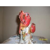 Aves. Pajaros En Rama. Candelabro Ceramica Fina (bai)