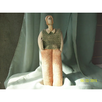 Figura Ceramica De Joven Estudiante. S/ Sello (c1)