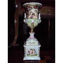 Florero O Anfora De Porcelana Capodimonte Sellada (415)