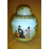 Delicado Potiche Porcelana Oriental Sin Sello (01093)f