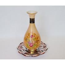 Florero Porcelana Tsuji Gran Bouquet Negro Oro