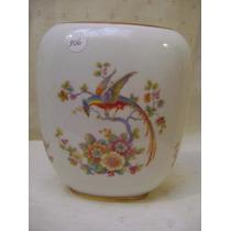 Antiguo Florero De Porcelana Europea Con Pajaros