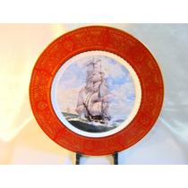 El Arcon Plato De Porcelana Tsuji Oro Rep Cuadro 25cm 8014
