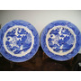 029- Juego De 2 Platos Porcelana Willow 24 Cm