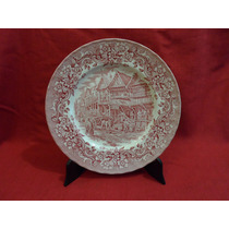 Exquisito Plato Decorativo Ironstone Royal Tudor Ware