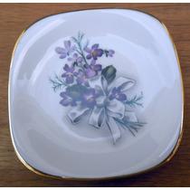 Plato De Porcelana Con Motivo Floral - Verbano