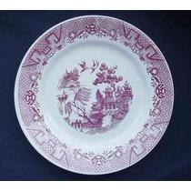 Antiguo Plato Para Decorar De Porcelana Nacional