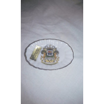 Platito Porcelana Borde Oro Miniatura Unico!!