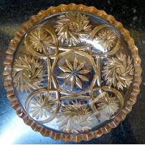 Antiguo Despojador De Vidrio Prensado Cenicero