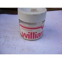 Antiguo Frasco De Vidrio Crema De Afeitar Williams