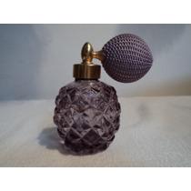 Frasco Perfumero Vidrio Cristal Con Bomba Atomizadora