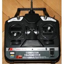 Radio Control Remoto 6 Canales 2.4g Avión Auto Helicóptero.