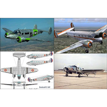 Plano Rc Beechcraft Expeditor C45