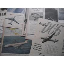 Avion Boeing Douglas Panagra Twa Lote Publicidad Comercial