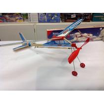 Cabito 2 Modelo Kit Madera Balsa A Goma Avion P/ Armar Nuevo