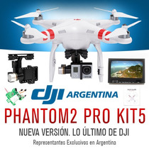 Cuadricoptero Dji Phantom 2 Gps Go Pro Gimbal Fpv Kit 4