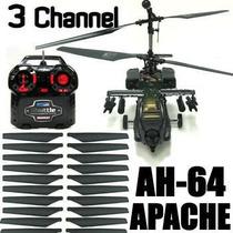 Enorme Helicóptero Apache H64 De 42 Cmts + 20 Aspas.