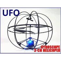 Impresionante Esfera Voladora Helicóptero Tipo Ovni De 3 Can