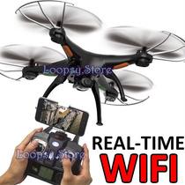 Drone Syma X5sw Wifi Hd - Filma En Tiempo Real + 2 Baterias!