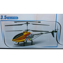 Helicoptero Rc 3.5 Canales Grande Con Luces Fly-7