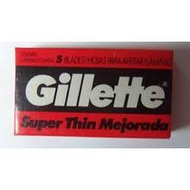 Hojas De Afeitar Gilette Super Thin Mejorada Mega Oferta!